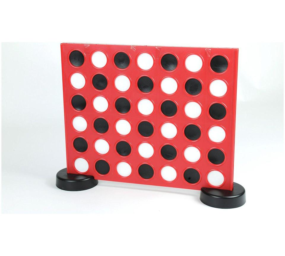 """<p>Standing at 46cm x 53cm, this version of the classic 4-in-a-Row game will be a giant challenge for all.</p><p><strong>4 in a Row by Traditional Garden Games, £37.99, Argos</strong></p><p><a href=""""http://www.argos.co.uk/product/4044536"""" rel=""""nofollow noopener"""" target=""""_blank"""" data-ylk=""""slk:BUY NOW"""" class=""""link rapid-noclick-resp"""">BUY NOW</a></p>"""