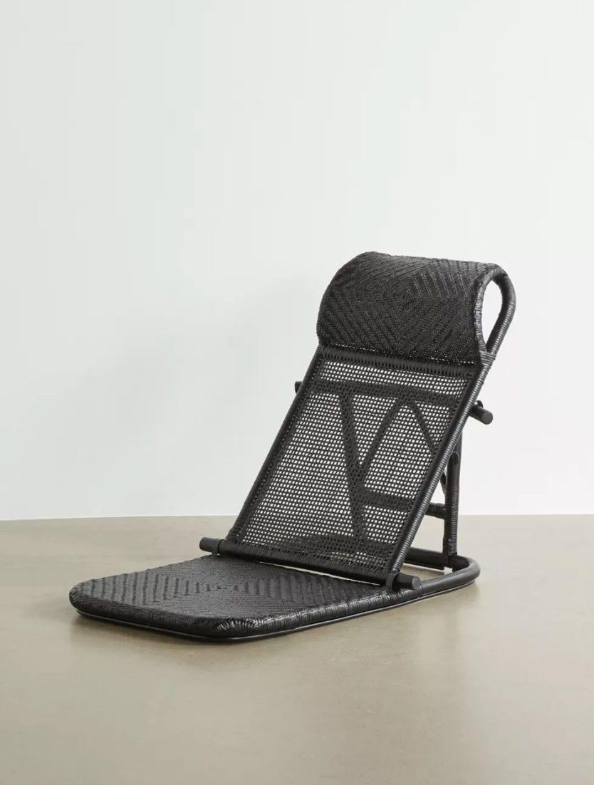 """<h3><h2>Urban Outfitters Tatami Beach Chair</h2></h3><br>Custom crafted from woven-rattan materials, this ultra-chic and portable fold-up features a reinforced seat, reclining back, and a hinging silhouette with a carrying handle for easy transport.<br><br><em>Shop</em> <strong><em><a href=""""http://urbanoutfitters.com"""" rel=""""nofollow noopener"""" target=""""_blank"""" data-ylk=""""slk:Urban Outfitters"""" class=""""link rapid-noclick-resp"""">Urban Outfitters</a></em></strong><br><br><strong>Urban Outfitters</strong> Tatami Beach Chair, $, available at <a href=""""https://go.skimresources.com/?id=30283X879131&url=https%3A%2F%2Fwww.urbanoutfitters.com%2Fshop%2Ftatami-beach-chair"""" rel=""""nofollow noopener"""" target=""""_blank"""" data-ylk=""""slk:Urban Outfitters"""" class=""""link rapid-noclick-resp"""">Urban Outfitters</a>"""