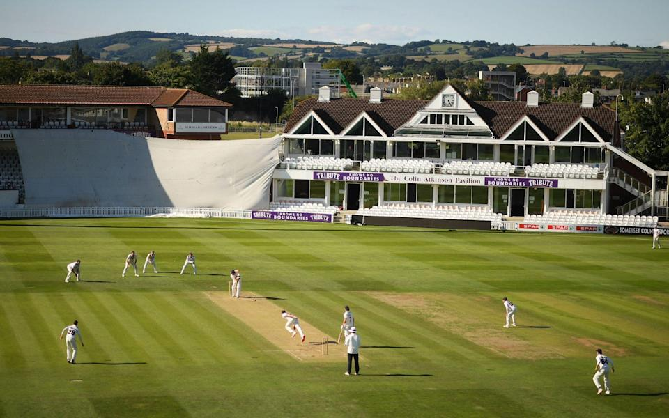 General view of play during Day Three of the Bob Willis Trophy match between Somerset and Glamorgan at The Cooper Associates County Ground  - GETTY IMAGES