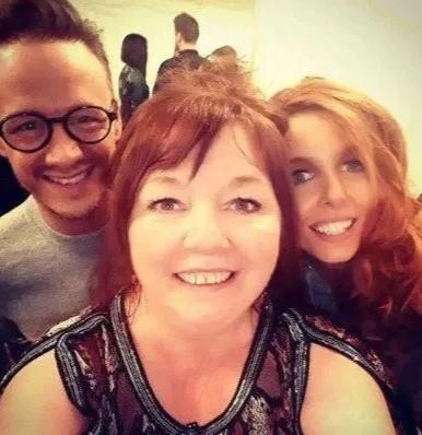 Stacey Dooley and Kevin Clifton with her mum Di (Credit: Instagram)