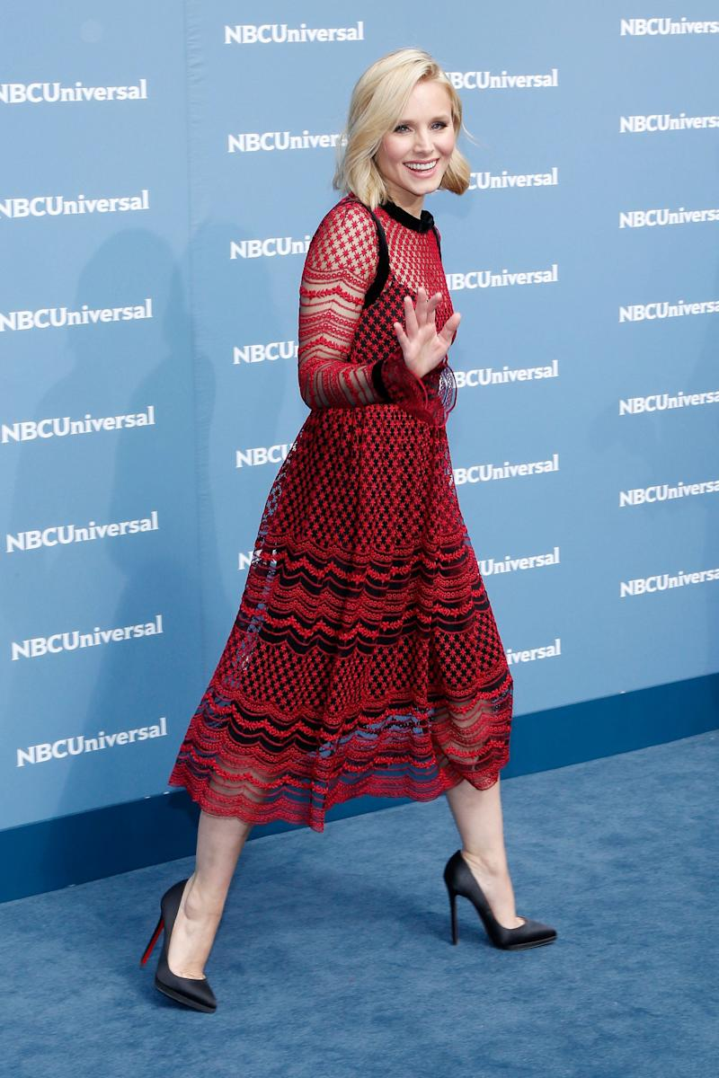 Kristen Bell attends the NBCUniversal 2016 Upfront on May 16, 2016, in New York.