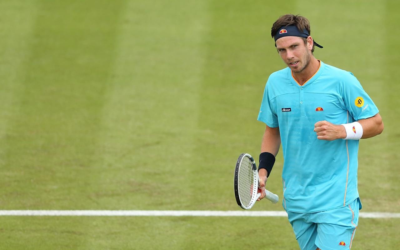"""A year ago this week, Cameron Norrie learned that he had received a wild card into the main draw of Wimbledon. This was a landmark moment: his first appearance at a major, coming less than a month after he had turned professional. To celebrate, he visited a tattoo parlour. Motivational quotes are usually the go-to option for tennis ink, but Norrie -who will face the triple slam champion Stan Wawrinka on Monday at Queen's Club -chose a different route. Discreetly inscribed on his chest, he wears the silhouette of a big cat. """"It's a puma,"""" Norrie told The Telegraph last week, as we rode together in a courtesy car belonging to the Nottingham Tennis Centre. """"I just got it, liked it. It was my first time playing Wimbledon, my coach is Argentinian, I quite like rugby. [Argentina's rugby team are known as the Pumas.] I had always wanted a tattoo and I didn't want to get something mainstream."""" """"That's you, isn't it?"""" I reply. """"Not mainstream."""" He grunts, a very Norrie-ish noise. """"I guess so."""" As a Briton ranked inthe world's top 100, and a man who has already claimed such quality scalps as John Isner and Roberto Bautista-Agut, you might expect Norrie to be better known. Yet he is only now beginning to step out of the shadows, having dodged the hullaballoo that surrounds so many promising British juniors. Born in Johannesburg (oddly, the same place as British No1 Kyle Edmund), Norrie grew up in Auckland. He then spent three years studying at Texas Christian University in Fort Worth, where the tennis team rejoice in the nickname of """"the horned frogs"""". Again, not exactly mainstream. Norrie has some of the same disruptive energy as a young Andy Murray with whom he practised at Queen's on Friday Credit: John Walton/PA During his sophomore year -that's the second, for British purposes -Norrie experienced an unlikely epiphany, which sounds as left-field as the rest of his back story. He was out late one night, messing around on a moped, when he lost his balance and crashed on the """