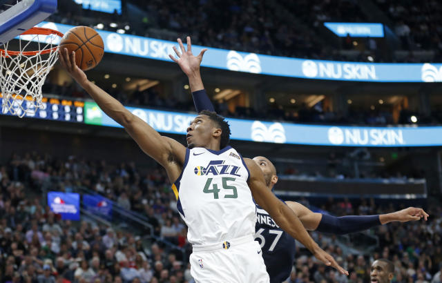 Rookie Donovan Mitchell has shown promise for the Jazz. (AP)