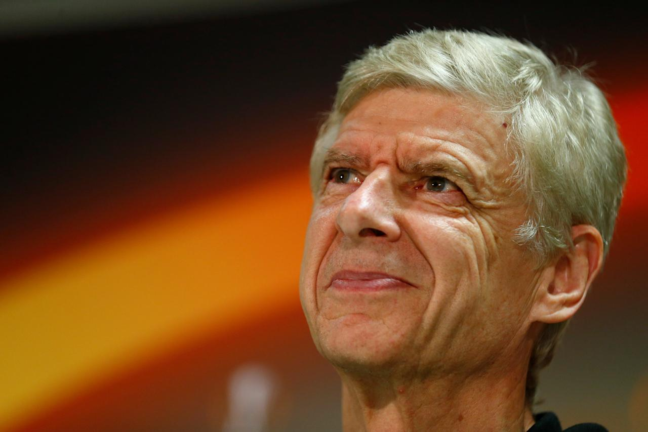 Soccer Football - Europa League - Arsenal Press Conference - Cologne Bonn Airport, Cologne, Germany - November 22, 2017   Arsenal manager Arsene Wenger during the press conference   REUTERS/Thilo Schmuelgen