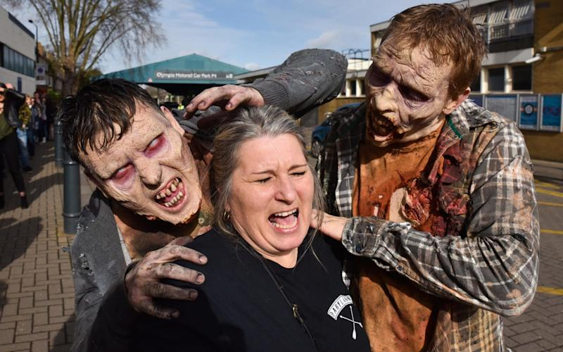 Fans of the Walking Dead TV series attend the Walker Stalker Con at Kensington Olympia in London  - www.alamy.com