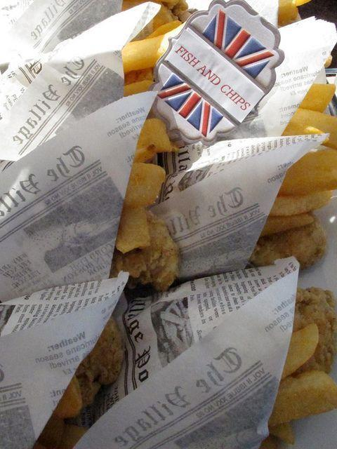 """<p>What is more British than fish and chips? These cute mini meals would go down a treat.<i><a href=""""https://uk.pinterest.com/pin/98516310570923081/"""" rel=""""nofollow noopener"""" target=""""_blank"""" data-ylk=""""slk:[Photo: Pinterest]"""" class=""""link rapid-noclick-resp""""> [Photo: Pinterest]</a></i></p>"""