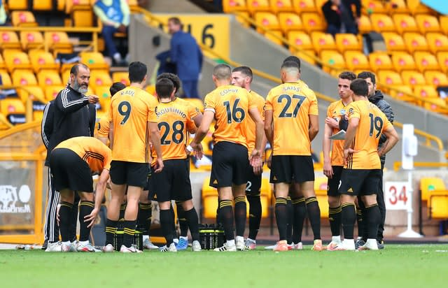 Wolves had not conceded a goal until the defeat on Saturday (Catherine Ivill/NMC Pool/PA)