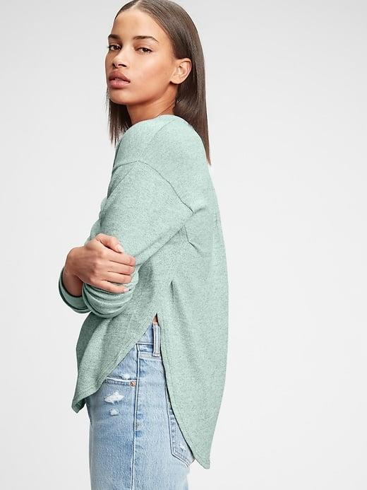 <p>The brushed <span>Gap Softspun Dolman T-Shirt</span> ($22-$26, originally $40) looks so cute with jeans and a cropped jacket.</p>