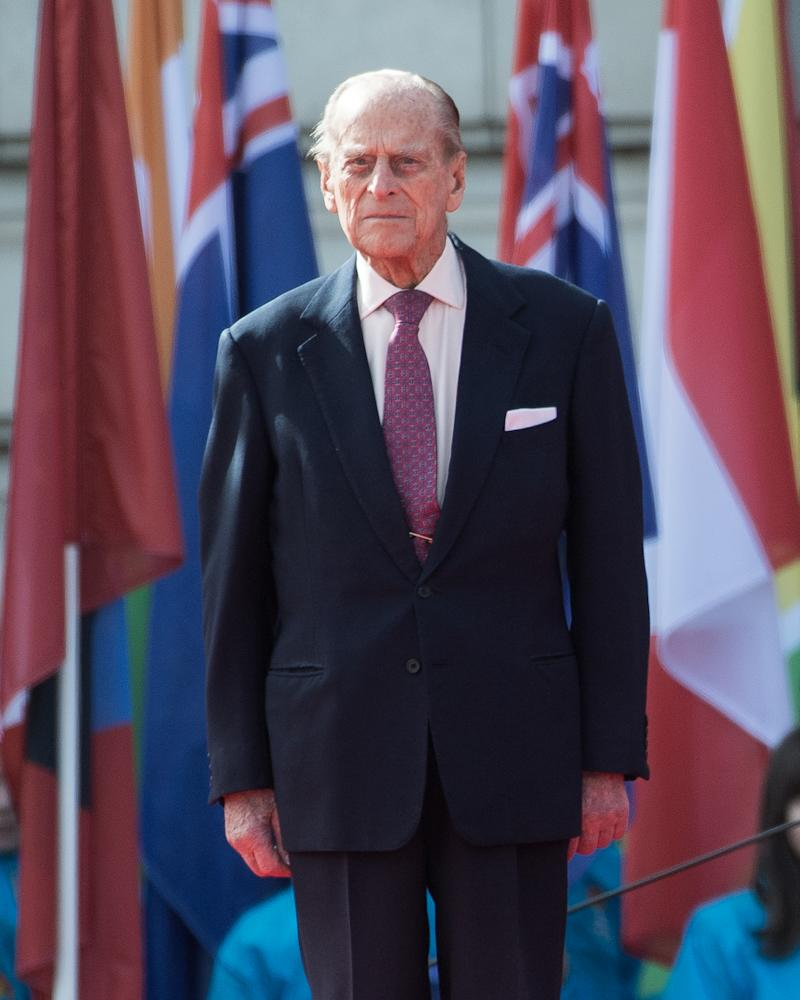 Prince Philip, Duke of Edinburgh attends the launch of The Queen's Baton Relay for the XXI Commonwealth Games being held on the Gold Coast in 2018 at Buckingham Palace on March 13, 2017 in London, England.