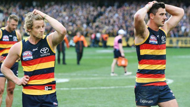 The Crows were shattered at full-time. Image: Getty