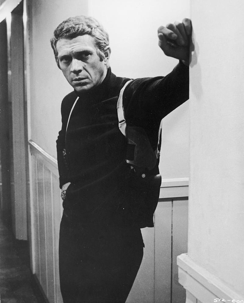 "The actor in a still from the 1968 film ""Bullitt."""