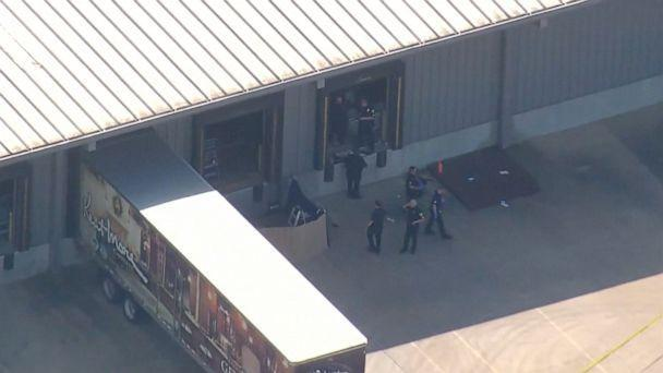 PHOTO: One person was killed and four were critically injured in a shooting at Kent Moore Cabinets in Bryan, Texas, on April 8, 2021. (KTRK)