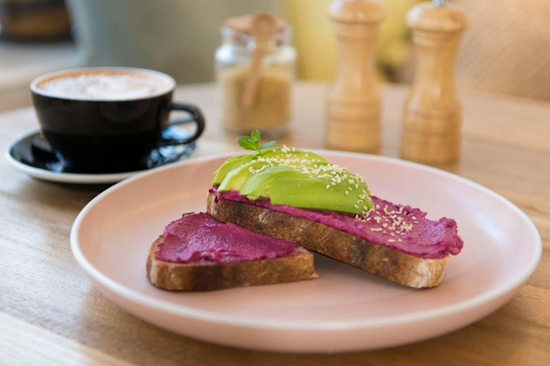 CARDIFF, UNITED KINGDOM - NOVEMBER 02: A plate of avocado on toast in a cafe on November 2, 2018 in Cardiff, United Kingdom. (Photo by Matthew Horwood/Getty Images)
