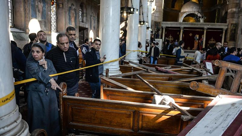 A bombing at Cairo's largest Coptic cathedral has killed at least 25 people.