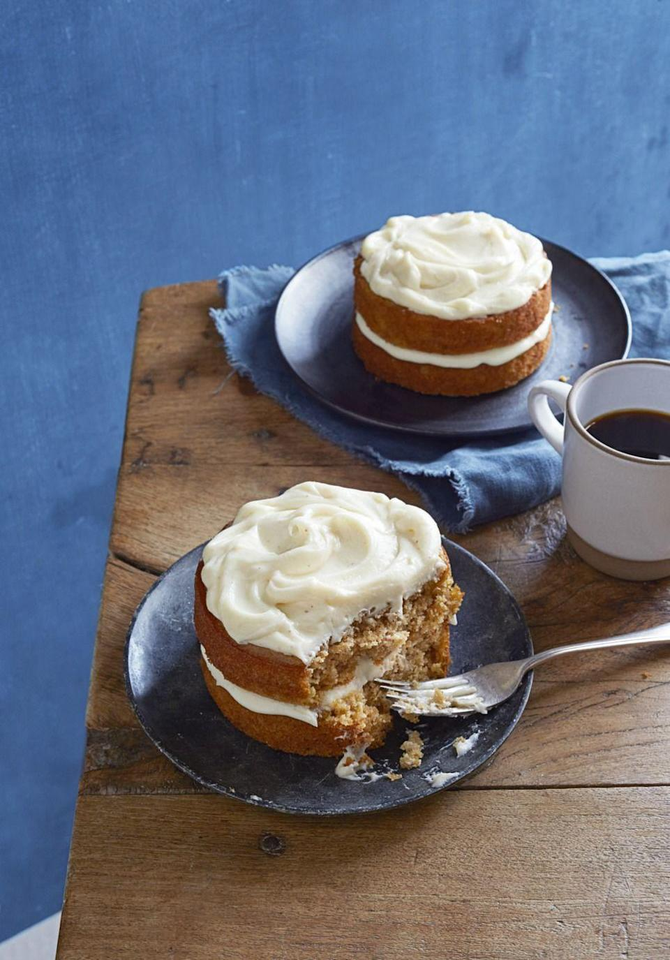 "<p>We'll let you in on a little secret. We snuck some root veggies (butternut squash, parsnips) into these warm and cozy cakes. </p><p><em><a href=""https://www.goodhousekeeping.com/food-recipes/a15941/spiced-parsnip-cake-recipe-ghk1014/"" rel=""nofollow noopener"" target=""_blank"" data-ylk=""slk:Get the recipe for Spiced Parsnip Cakes »"" class=""link rapid-noclick-resp"">Get the recipe for Spiced Parsnip Cakes »</a></em></p>"