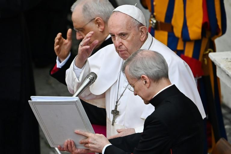 """Pope Francis said the Church was in crisis because of the """"abuse issue"""""""