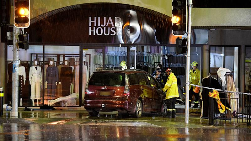 The 51-year-old driver who crashed into a a Sydney hijab store has been released from police custody. Source: AAP
