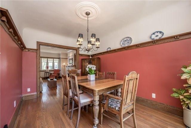 """<p><a rel=""""nofollow"""" href=""""https://www.zoocasa.com/toronto-on-real-estate/5376775-124-brookside-ave-toronto-on-m6s4g9-w4161313"""">124 Brookside Ave., Toronto, Ont.</a><br /> The living room and dining room have hardwood floors, a plate rail and a walkout to the backyard.<br /> (Photo: Zoocasa) </p>"""
