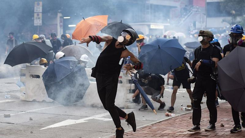 Protesters clashed with police on Aug 5, 2019