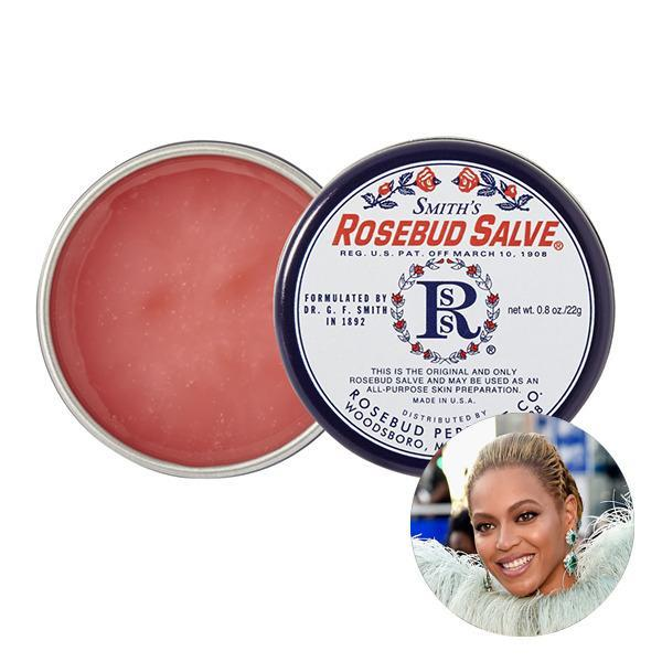"<p>In an interview with <i>Allure</i>, Beyonce dished that one of her beauty must-haves is Smith's Rosebud Salve. ""I wear it with my lipstick. I did this trick last summer, when I was on vacation: I used it to prime my lashes before curling. It was like a natural mascara. It made the lashes hold the curl and look shiny. I use it for everything!"" she said.</p>"