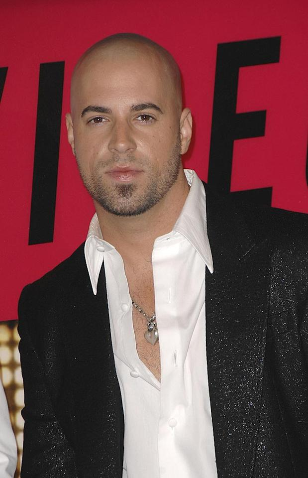 """""""American Idol"""" resident rocker Chris Daughtry is best known for his throaty vocals and shaved head. Steve Granitz/<a href=""""http://www.wireimage.com"""" target=""""new"""">WireImage.com</a> - September 9, 2007"""