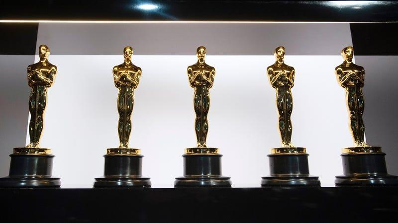 In this photo provided by AMPAS, Oscar statuettes are on display backstage at the 92nd Academy Awards on February 9, 2020.