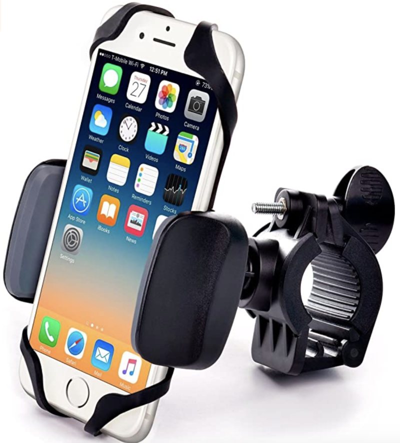 Metal bike & motorcycle phone mount - for any smartphone, S$35.92. PHOTO: Amazon