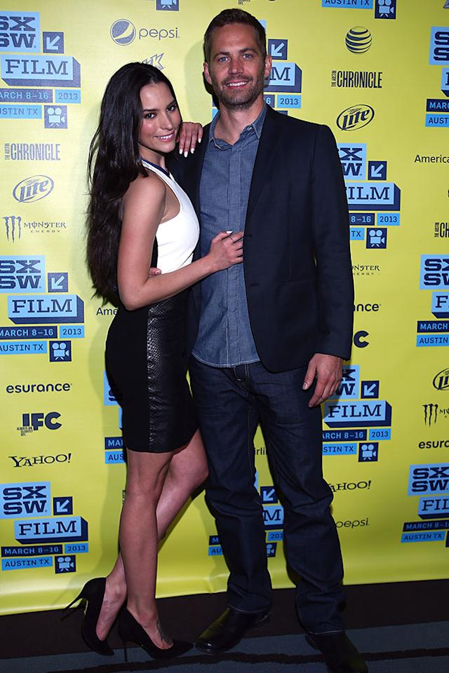 "Genesis Rodriguez and Paul Walker arrive at the screening of ""Hours"" during the 2013 SXSW Music, Film   Interactive Festival at Topfer Theatre at ZACH on March 10, 2013 in Austin, Texas.  (Photo by Waytao Shing/Getty Images)"