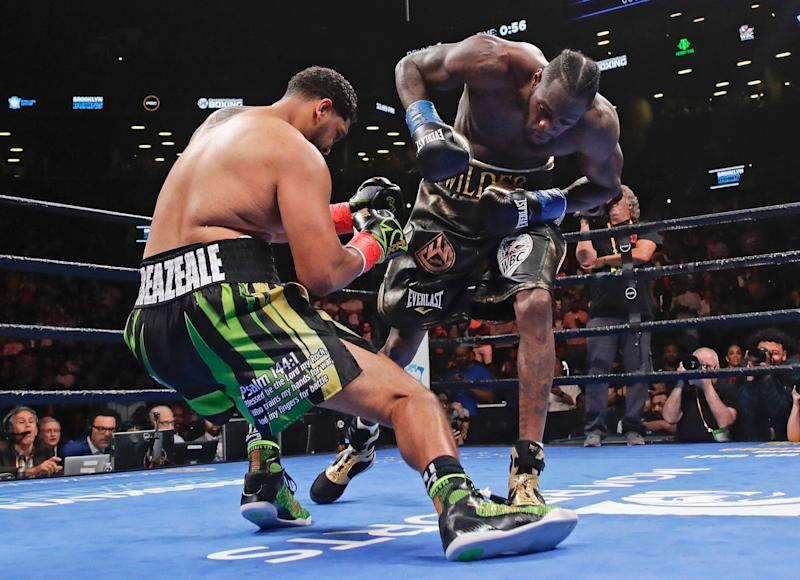 Image result for deontay wilder Dominic Breazeale 2019