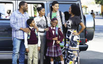 """<p><b>This Season's Theme: </b> Ch-ch-changes, as the kids are growing up rapidly, and there will be two new faces in the Johnson family. <br><br><b>Where We Left Off: </b> Bow (Emmy nominee Tracee Ellis Ross) found out she was pregnant at the end of Season 2… <br><br><b>Coming Up: </b> …and her brother, Johan – played by <i>Hamilton</i> Tony winner Daveed Diggs – arrives to stir up tension, especially with his brother-in-law Dre (Emmy nominee Anthony Anderson). """"We get along beautifully,"""" Ellis Ross says of Bow and her bro, but Dre finds Johan to be entitled and pretentious. """"And yes, Dre lets him know it."""" While <i>Black-ish</i> creator Kenya Barris hints we should expect to meet the new Johnson baby during Season 3, he says the pregnancy won't be the main focus of the Emmy-nominated comedy this season. """"[All the kids] are growing, and I think the great thing in any family show is that you don't have to make stories contrived, because you actually have a natural growth chart for your family,"""" Barris says. """"As girls develop faster than boys, we're seeing our twins starting to have that reflected in their lives. And at the same time you can look at Rainbow, who's having what now is considered a late in life last child. That impacts the entire family."""" <br><br><b>They're Going to Disney World!: </b> The Johnson family heads to the Florida theme park for the Season 3 premiere, in a nod to the family vacations Barris took as a child. """"I think family vacations are really important. They don't have to be big vacations, but every so often, especially as the kids start to get older, everyone is going in their own direction, and you need to put everyone on an island together and trap yourself on that island together to re-invest in who you are as a family,"""" Barris says. """"As kids, we'd take those road trips, and I think being in that car with each other was the best part of the trip a lot of times. You didn't realize that until it was over, or until later in your life, but i"""