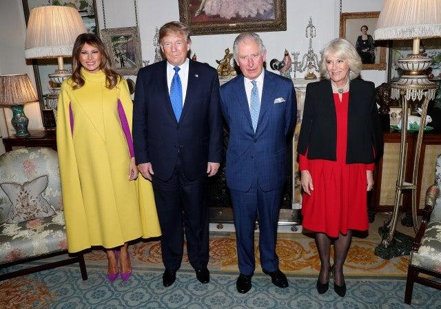 Donald Trump and wife Melania with Prince Charles and Camilla