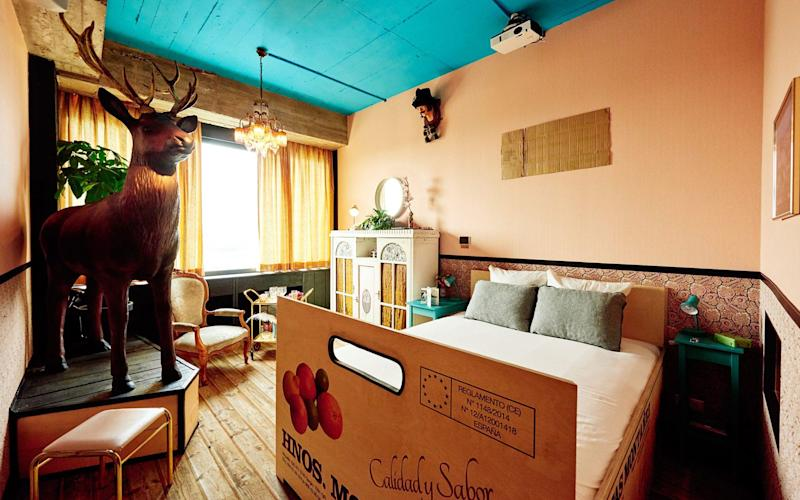 Colours are bold and bright at Volkshotel, with many a quirky designer flourish - Mr Mark GROENEVELDO
