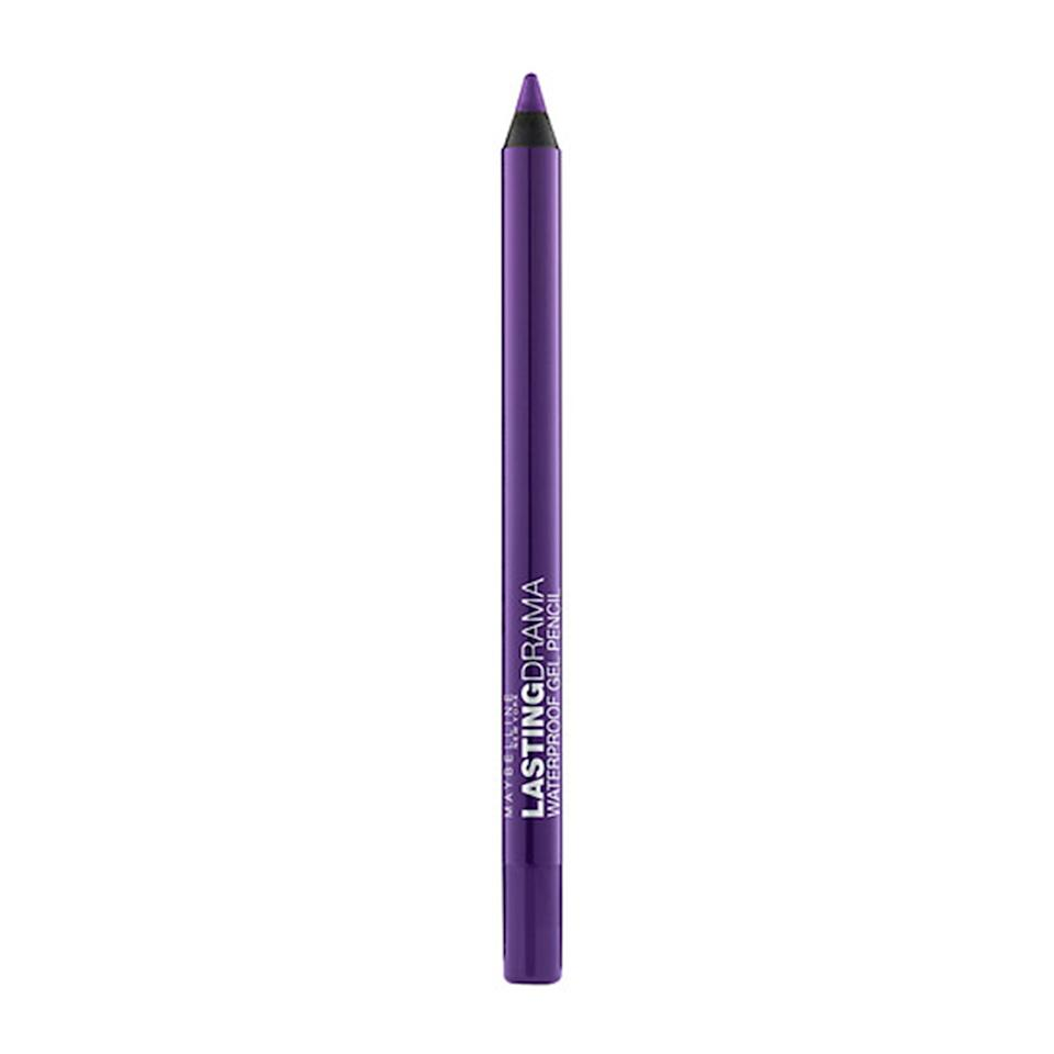 """<p>Maybelline New York offers a few punchy shades of its Eyestudio Lasting Drama Waterproof Gel Pencil Eyeliner. Our favorites are Silken Turquoise, Glossy Emerald, and Lustrous Sapphire, which look gorgeous <a href=""""https://www.allure.com/gallery/best-eyeliner-for-waterline?mbid=synd_yahoo_rss"""" rel=""""nofollow noopener"""" target=""""_blank"""" data-ylk=""""slk:on waterlines"""" class=""""link rapid-noclick-resp"""">on waterlines</a> for a subtle but impactful streak of color. This formula glides on smoothly before drying into a matte or metallic finish that won't budge no matter how much your eyes may tear up. </p> <p>Barose finds eyeliner pencils, like these, easier to apply than liquid formulas since you don't always need as steady of a hand or super-perfect lines. For the cleanest and crispiest lines, he recommends sharpening the pencil for a precise tip. Also, make sure the pencil isn't old or dry because the lines """"can look gloppy and bring out lines on your eyes,"""" Barose adds. </p> $16, Walmart. <a href=""""https://www.walmart.com/ip/Maybelline-New-York-Eyestudio-Lasting-Drama-Waterproof-Gel-Pencil-Silken-Turquoise/47878435?selected=true"""" rel=""""nofollow noopener"""" target=""""_blank"""" data-ylk=""""slk:Get it now!"""" class=""""link rapid-noclick-resp"""">Get it now!</a>"""
