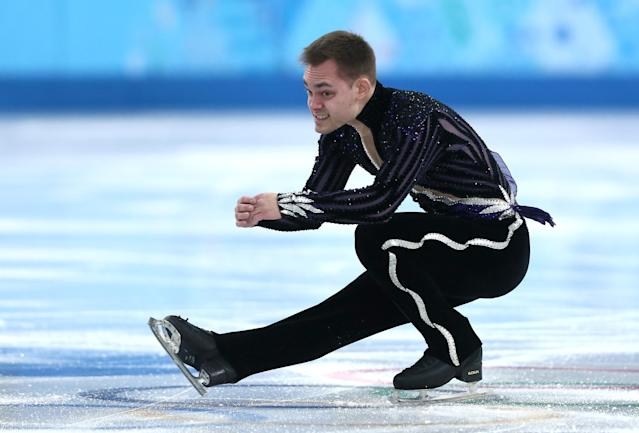 SOCHI, RUSSIA - FEBRUARY 09: Paul Bonifacio Parkinson of Italy competes in the Men's Figure Skating Men's Free Skate during day one of the Sochi 2014 Winter Olympics at Iceberg Skating Palace onon February 9, 2014 in Sochi, Russia. (Photo by Matthew Stockman/Getty Images)