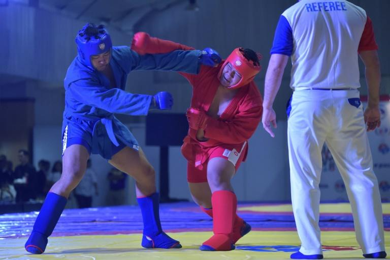 Sambo is an acronym of the Russian for 'unarmed self defence'