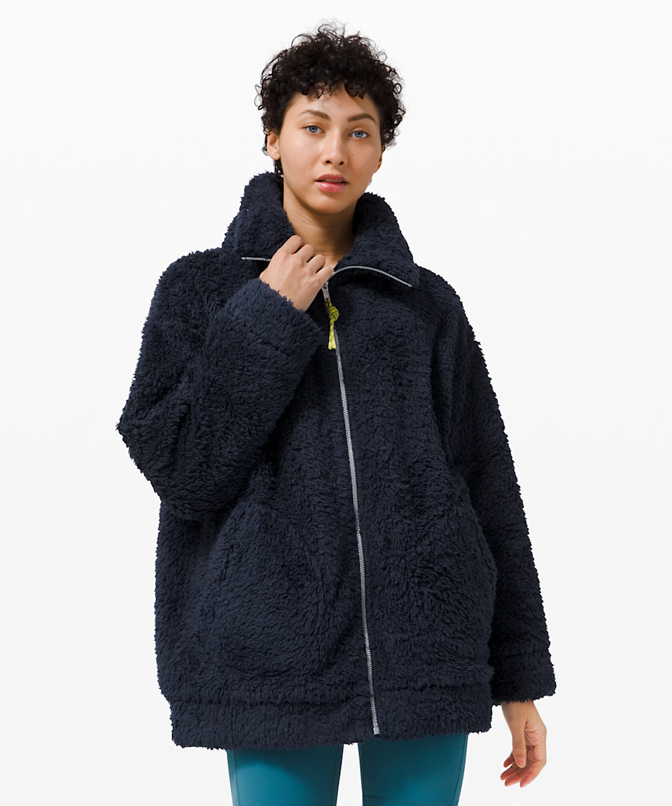 "<br><br><strong>lululemon</strong> Oh So Sherpa Jacket, $, available at <a href=""https://go.skimresources.com/?id=30283X879131&url=https%3A%2F%2Fshop.lululemon.com%2Fp%2Fjackets-and-hoodies-jackets%2FOh-So-Sherpa-Jacket%2F_%2Fprod9960771"" rel=""nofollow noopener"" target=""_blank"" data-ylk=""slk:lululemon"" class=""link rapid-noclick-resp"">lululemon</a>"