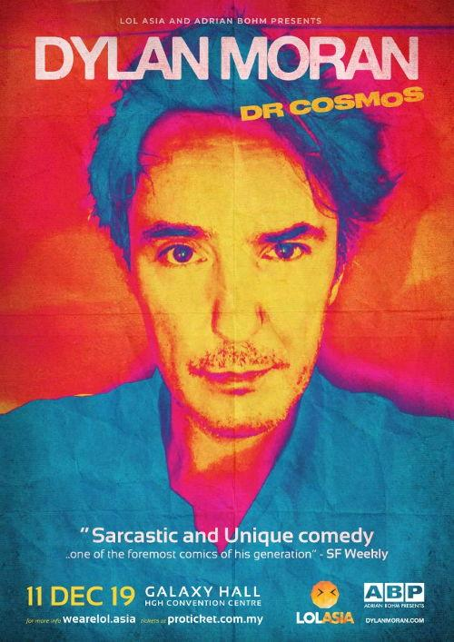 "You've seen Dylan Moran in ""Black Books"" and ""A Film with Me"", it's time to catch him live in person next!"