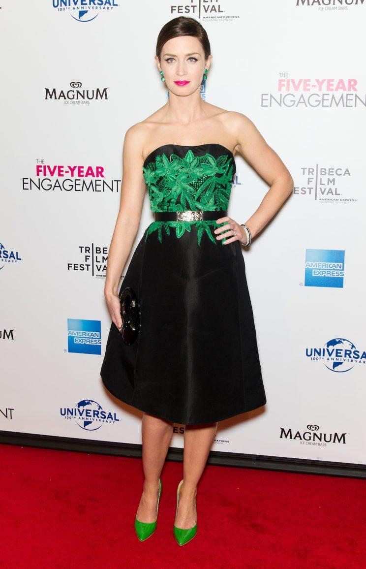 Emily Blunt attends the premiere of