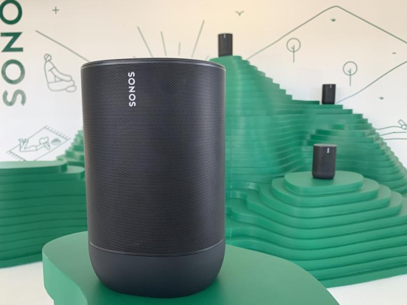 The Sonos Move is the company's first portable speaker, and starts at $399. (Image: Howley)