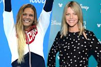 <p>Russian swimmer Yulia Efimova (left) and It's Always Sunny in Philadelphia actress Kaitlin Olson (right). </p>
