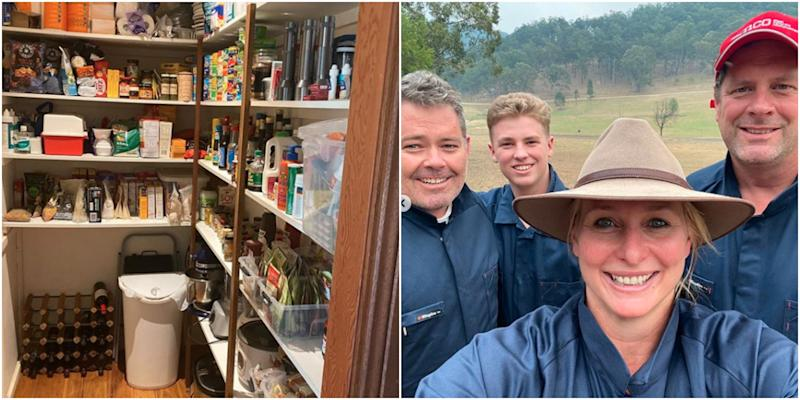 Johanna Griggs shares a selfie and a photo of her pantry