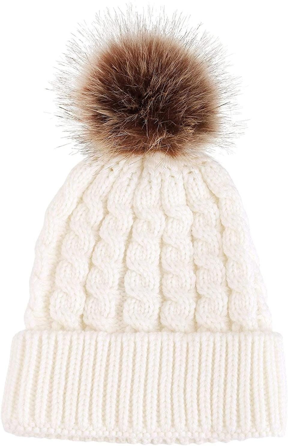 <p>Chilly days require this <span>Simplicity Beanie</span> ($14).</p>