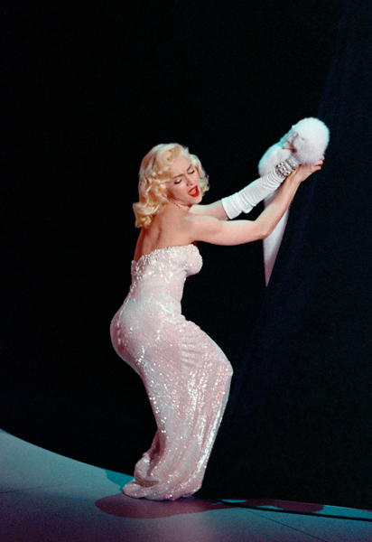 "<div class=""caption-credit""> Photo by: AP</div><div class=""caption-title""></div><b>Singing ""Sooner or Later (I Always Get My Man)"" at the Oscars, 1991</b> <br> The Marilyn Monroe throwback costume was a perfect match for her song from ""Dick Tracy."""