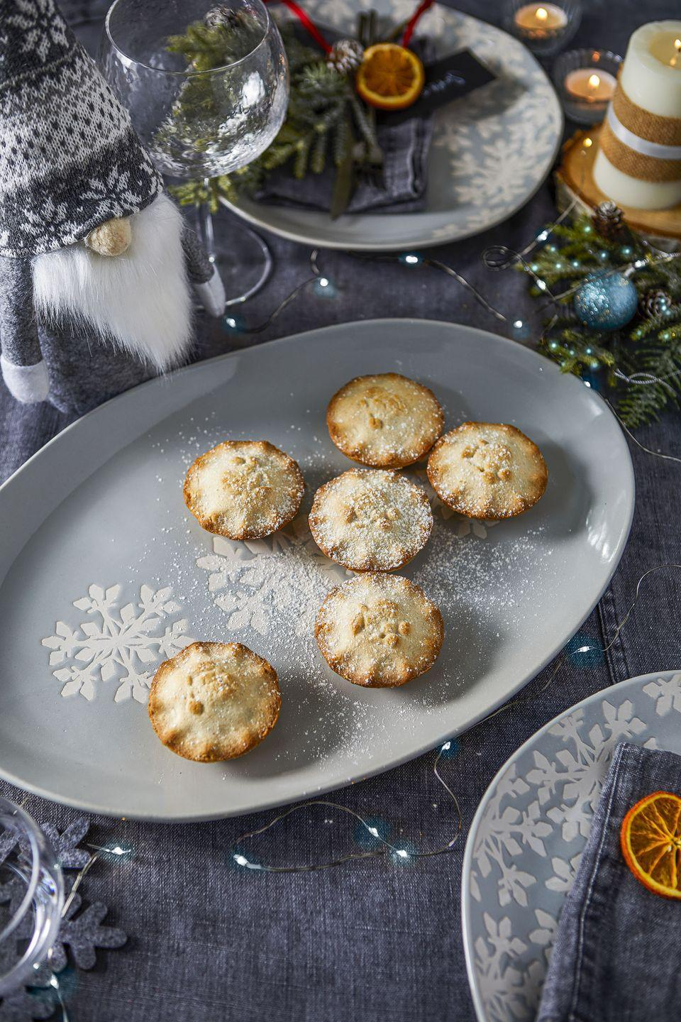 """<p>Planning on hosting a festive feast? Bring a touch of winter wonderland magic to the dining table with Tesco's Nordic Blues collection.<br></p><p>'Contemporary and cool, yet classic and comforting, the Nordic Blues dine collection will transform any dining table into a winter wonderland with its calming crisp blue and silver colour palette,' add Tesco. </p><p><strong>READ MORE</strong>: <a href=""""https://www.housebeautiful.com/uk/decorate/looks/a35055193/christmas-table-ideas/"""" rel=""""nofollow noopener"""" target=""""_blank"""" data-ylk=""""slk:How to decorate and style your Christmas table"""" class=""""link rapid-noclick-resp"""">How to decorate and style your Christmas table</a></p>"""