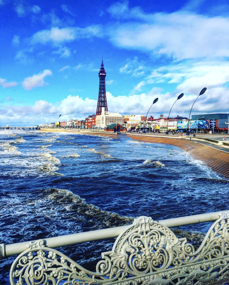 "Cool blue skies over Blackpool (@<a href=""https://www.instagram.com/matts__journey/"" title=""matts__journey"">matts__journey</a>)"