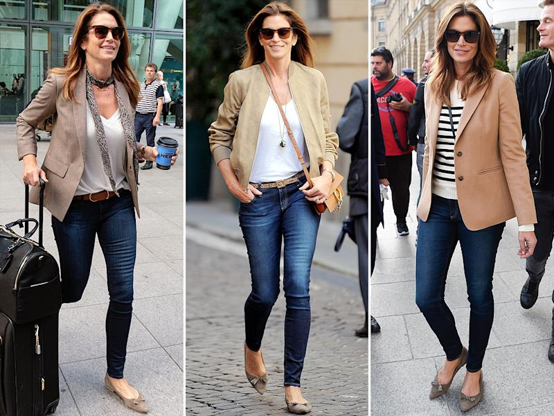 Cindy Crawford in the Lana flat