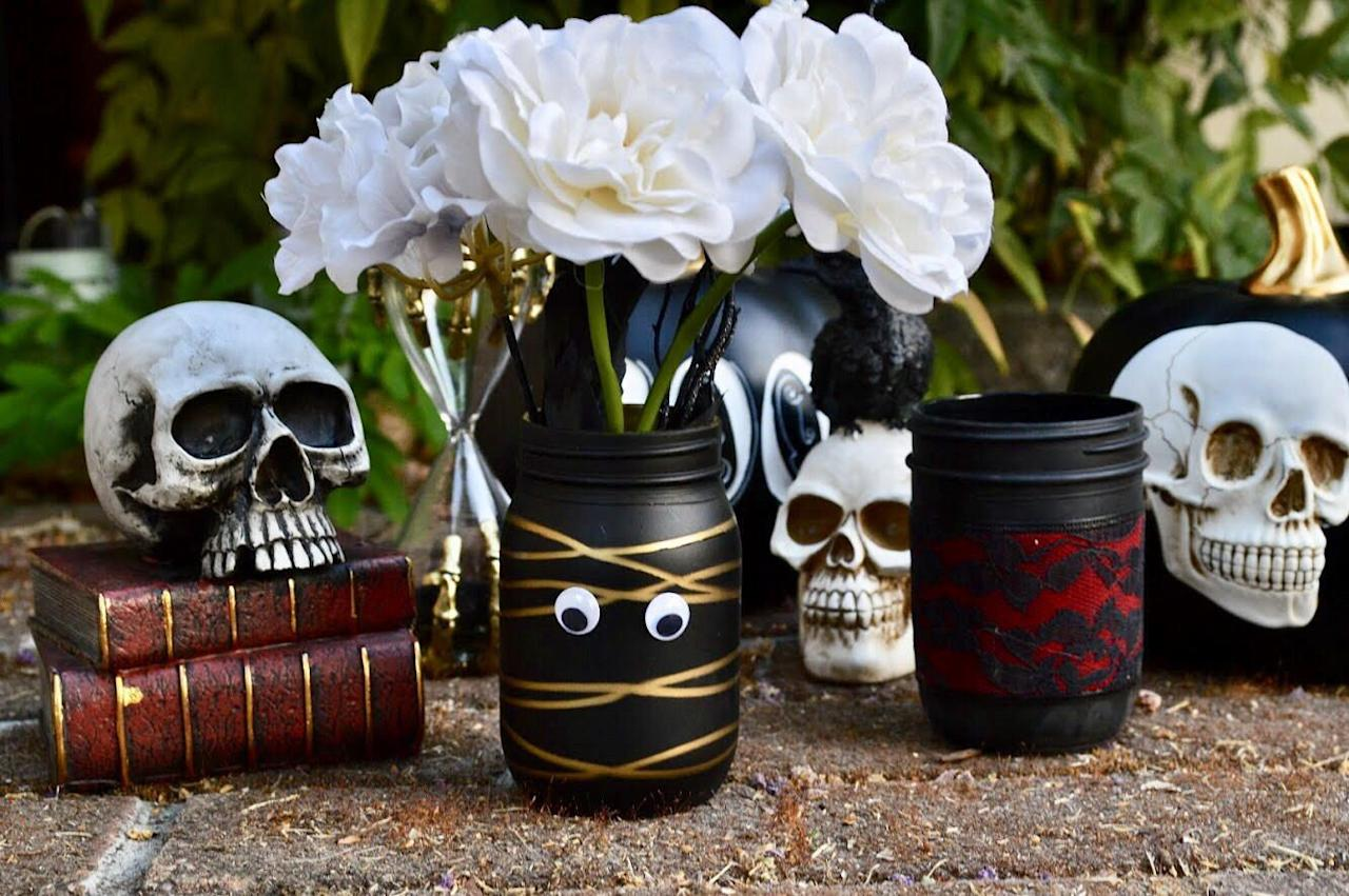 "<p><a href=""https://www.housebeautiful.com/lifestyle/gardening/a27153204/foolproof-flowers-and-herbs-in-mason-jars/"" target=""_blank"">Mason jars</a> are a pretty beloved staple in the DIY and crafting world. They can be transformed and upcycled into just about anything (yes, really), fitting into a range of styles from classic country to more modern. They're also the base of many a cute and <a href=""https://www.housebeautiful.com/entertaining/holidays-celebrations/g2543/halloween-crafts/"" target=""_blank"">crafty Halloween decoration</a> available on Etsy and Amazon Handmade that you can pull inspo from for your own DIY projects—or, you know, you can just purchase them yourself (we won't judge). </p><p>From spooky skeleton armies and googly-eyed mummies to rustic pumpkins and ghosts, check out these cool Halloween-themed mason jars just waiting to become a part of your <a href=""https://www.housebeautiful.com/shopping/home-accessories/g963/elegant-halloween-home-decorations/"" target=""_blank"">All Hallows Eve decor</a>. </p>"