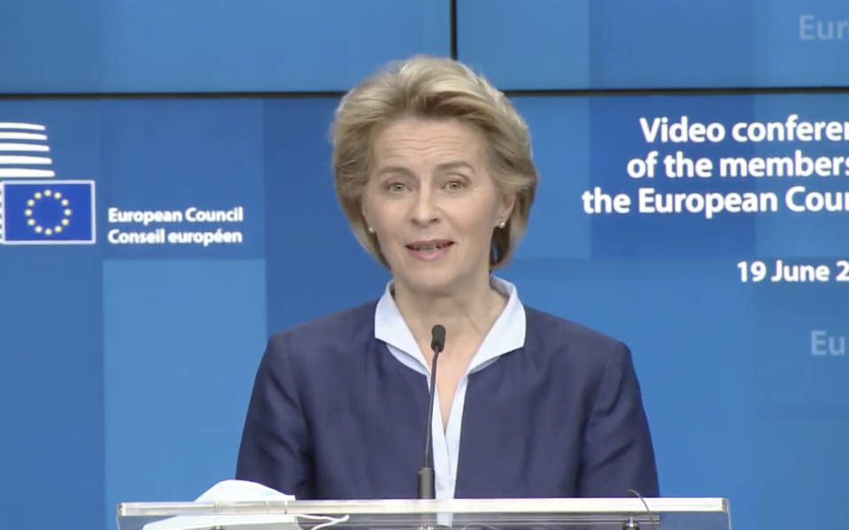 Ursula von der Leyen warned Boris Johnson's government needs to obey EU principles in order to achieve a 'future relationship' deal.