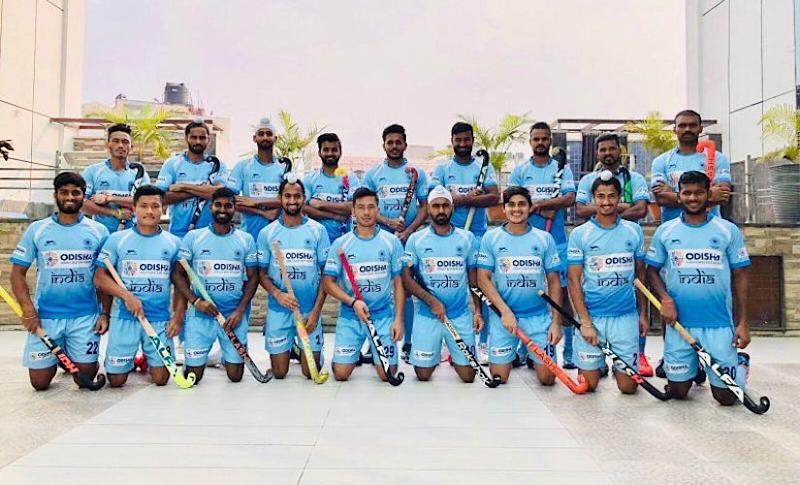 The Indian hockey team for the 2018 Hockey World Cup. Twitter @manpreetpawar07