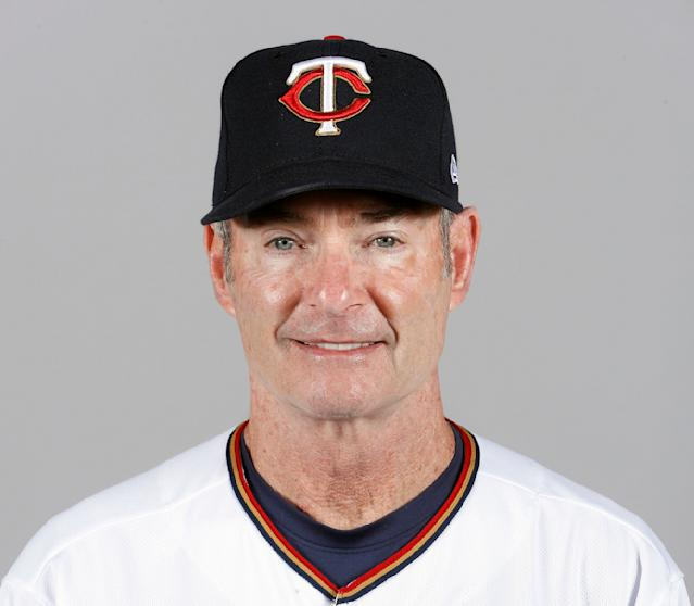 FILE - This is a 2018 file photo showing Paul Molitor of the Minnesota Twins baseball team. The Minnesota Twins fired Paul Molitor on Tuesday, Oct. 2, 2018, one season after he won the American League Manager of the Year award. Molitor has been offered another position within the organization. (AP Photo/John Minchillo, File)